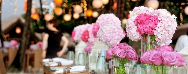 wedding banquet flowers