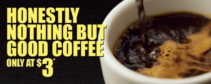 mcdonald's $3 coffee promotion