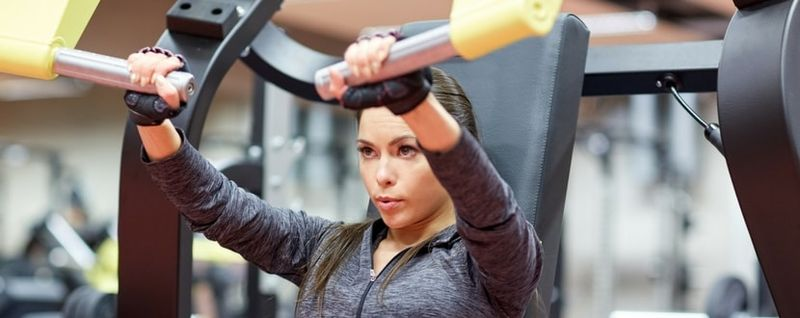 lady working out in gym