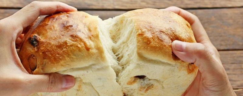 sharing bread delicious
