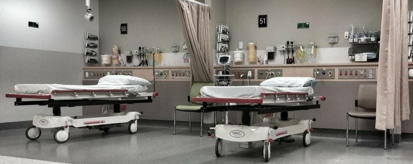 Hospital beds in ward-min
