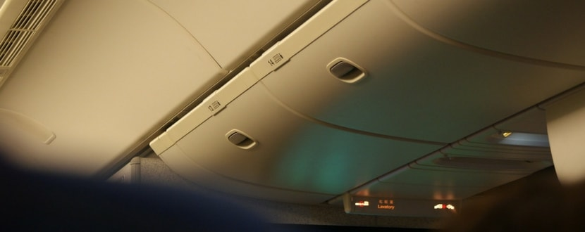 preventing theft in airplane overhead bins