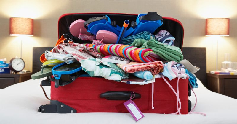 overpacking luggage for travel