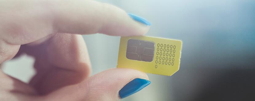 Person holding a sim card - SingSaver