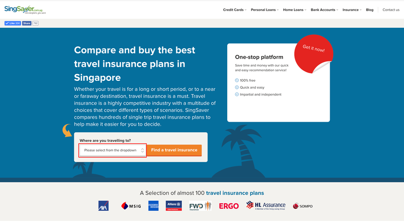 Compare and apply for best travel insurance in Singapore | SingSaver