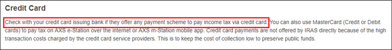 Paying Income Tax: Are CardUp, ipaymy, and Citi PayAll Worth the Admin Fee? | SingSaver