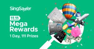 SingSaver's 11.11 Mega Rewards Promotion — Win $18,000 in cash